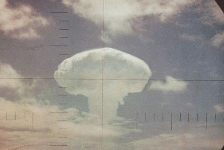 Nuclear cloud after test explosion