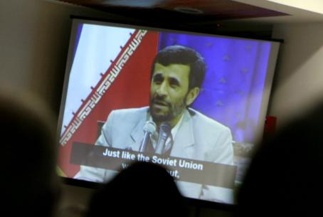 Watching Mahmoud Ahmadinejad on TV