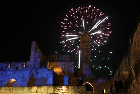 Jerusalem Day fireworks celebration