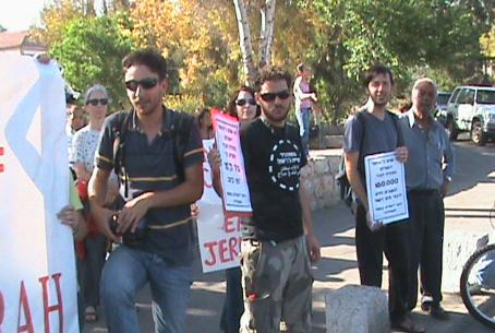 Protesters in Sheikh Jarrah