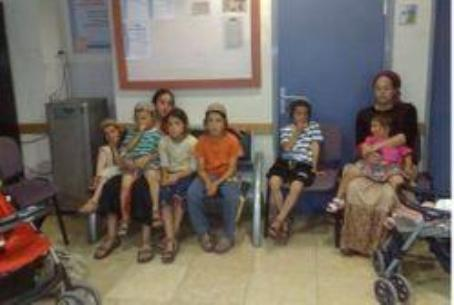 Yitzhar mother and children at police station