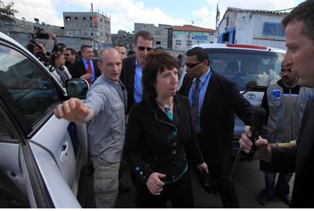 Catherine Ashton in Gaza, March 2010