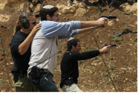 Training on a firing range, Gush Etzion (file