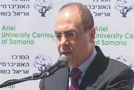 Vice PM Silvan Shalom in Ariel