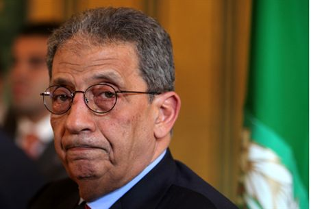 Arab League Secy Amr Moussa