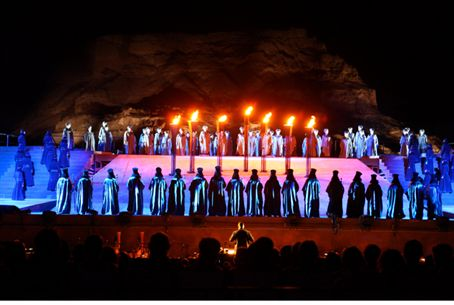 Nabucco at Masada UNESCO World Heritage site