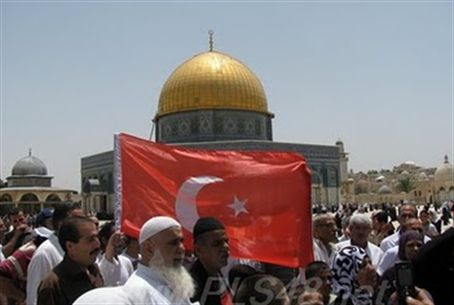 Turkish flag on Temple Mount