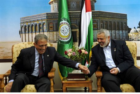 Moussa with Haniyeh