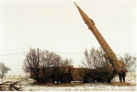 Scud launcher used for training purposes