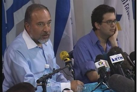 Foreign Minister Lieberman and Rafael Hadad