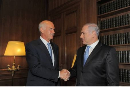 Prime Ministers Papendreou and Netanyahu