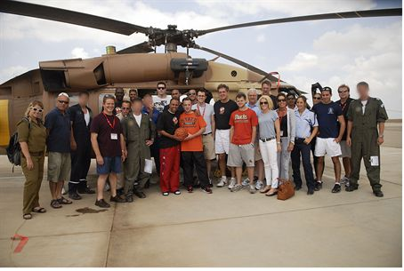 NBA players visit IAF base at Hatzerim