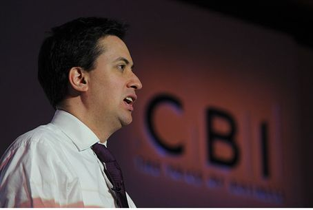Ed Miliband at the CBI climate change summit