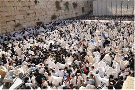 Prayers at Western Wall (Kotel)