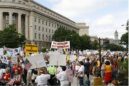 Tea Party rally in US