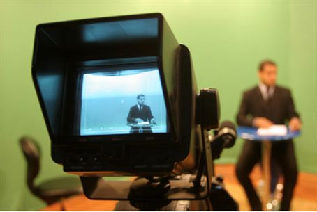 Hamas' s Al Aqsa TV studio (file)