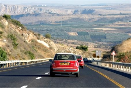 Highway in Golan Heights