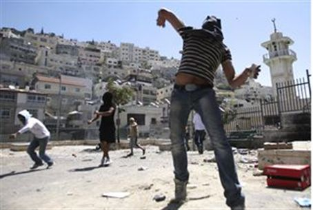 Rock attack in Jerusalem