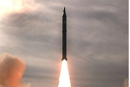 Iranian Sejjil 2 missile test launch