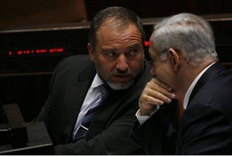 Netanyahu and Lieberman (file)