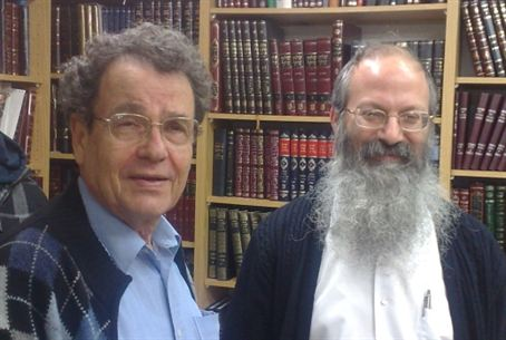 Prof. Friedman (left) with Rabbi Melamed.