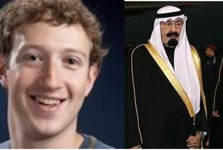 Zuckerberg and King Abdullah