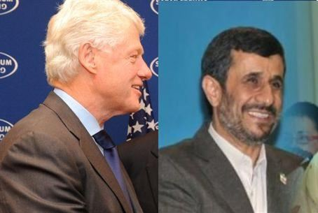 Bill Clinton and Mahmoud Ahmadinejad