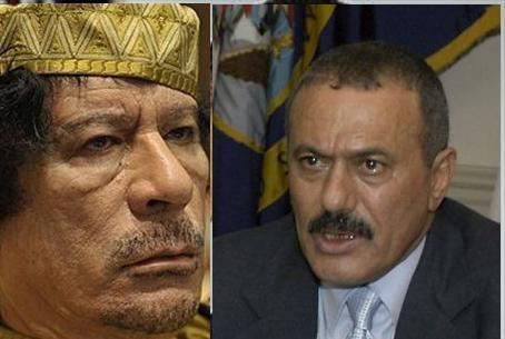 Qaddafi and Saleh