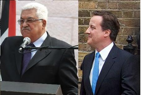 PA Fatah Chairman Abbas, UK PM Cameron