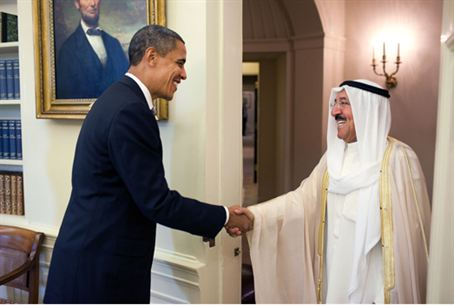 US President Obama and Emir of Kuwait