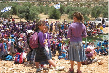 Jewish children in Samaria