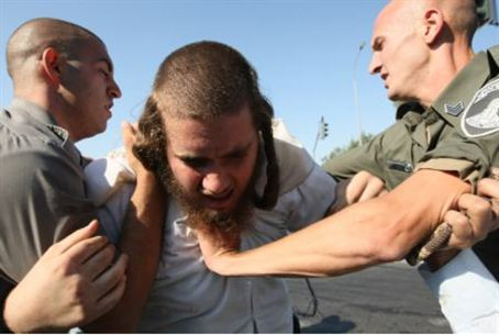 Protesting arrest of Torah sage
