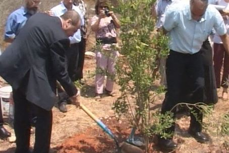 Vice PM Plants Tree in Shomron
