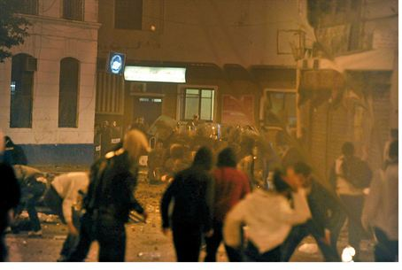 Algerian clashes in January 2011