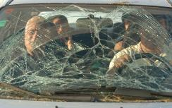 Israelis returning in smashed vehicle after b