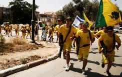 Golani flag in the Golani Run, 2009