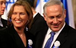 Netanyahu and Livni during happier days