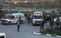 Scene of the stabbing at Kiryat Arba