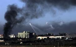 Smoke billows in Gaza