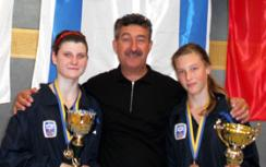 Dana Strelnikov and coach Friedman