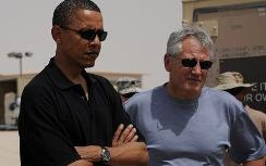 Obama and Hagel in Kuwait in 2008