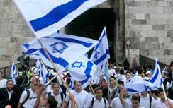 Flag waving in the Jewish capital