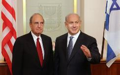 Mitchell and Netanyahu at Wednesday meeting