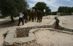 Soldiers visit Ammunition Hill