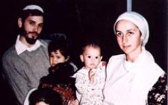 Binyamin and Talia Kahane with their children