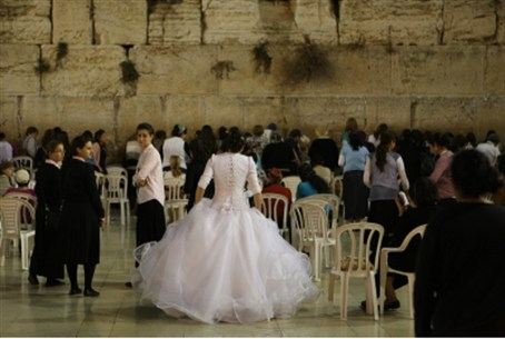 Bride at Kotel