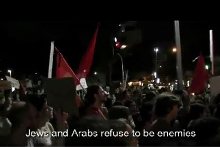 Red flags in Tel Aviv, 21.8.11.