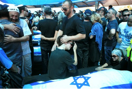 Funeral of civilians murdered near Eilat.
