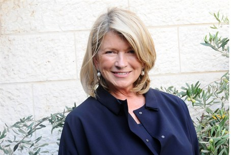 Martha Stewart upon her arrival in Israel