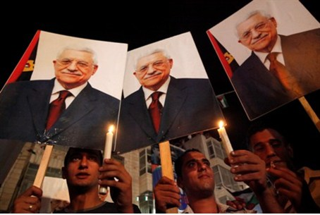 Pictures of Abbas in Ramallah rally